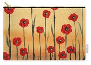 Abstract Red Poppy Field Carry-all Pouch