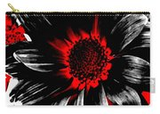 Abstract Red White And Black Daisy Carry-all Pouch