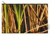 Abstract Reeds Triptych Top Carry-all Pouch