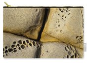 Abstract Rock Pocked With Holes And Divided By Lines Carry-all Pouch