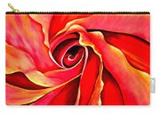Abstract Rosebud Fire Orange Carry-all Pouch