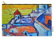 Abstract Santorini Sunset Oia Windmills  Carry-all Pouch