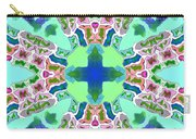 Abstract Seamless Pattern  - Blue Green Purple Pink White Carry-all Pouch