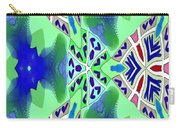 Abstract Seamless Pattern - Blue Green Turquoise Red White Carry-all Pouch