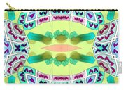 Abstract Seamless Pattern  - Yellow Blue Turquoise Purple Pink White Green Carry-all Pouch