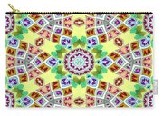 Abstract Seamless Pattern  - Yellow Brown Gray Purple Green Carry-all Pouch
