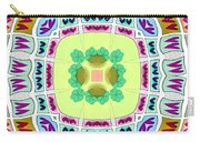 Abstract Seamless Pattern  - Yellow Green Blue Purple White Gray Carry-all Pouch