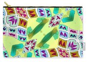 Abstract Seamless Pattern  - Yellow Green Purple Blue Gray White Carry-all Pouch