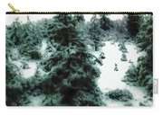 Abstract Snowy Trees Lighter Carry-all Pouch