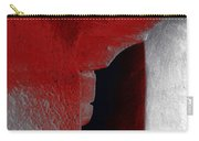 Abstract Square Red Black White Grey Textured Window Alcove 2a Carry-all Pouch