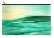 Abstract Sunset In Blue And Green Carry-all Pouch