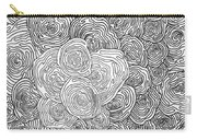 Abstract Swirl Design In Black And White #1 Carry-all Pouch