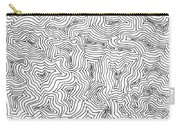 Abstract Swirl Design In Black And White Carry-all Pouch