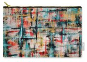 Abstract Teal Crosses Carry-all Pouch