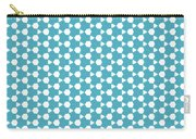 Abstract Turquoise Pattern 1 Carry-all Pouch