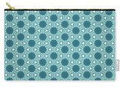 Abstract Turquoise Pattern 3 Carry-all Pouch
