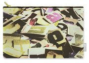 Abstract Typescript Carry-all Pouch