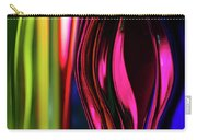 Abstract Verticle Shapes In Green And Red Carry-all Pouch