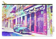 Abstract Watercolor - Havana Cuba Classic Car I Carry-all Pouch