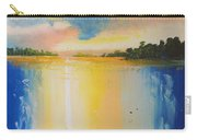 Abstract Waterfall At Sunset Carry-all Pouch
