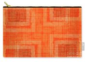 Abstract Window On Orange Wall Carry-all Pouch