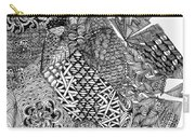 Abstract Zentangle Inspired Design In Black And White Carry-all Pouch