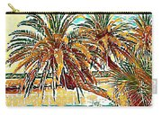 Abstracted Loop Palms Carry-all Pouch