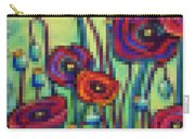 Abstracted Poppies Carry-all Pouch