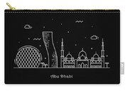Abu Dhabi Skyline Travel Poster Carry-all Pouch