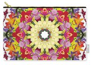 Abundantly Colorful Orchid Mandala Carry-all Pouch