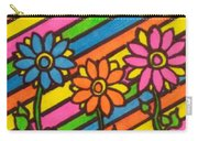 Aceo Abstract Flowers Carry-all Pouch