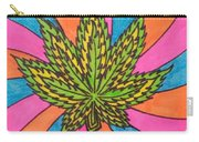 Aceo Cannabis Abstract Leaf  Carry-all Pouch