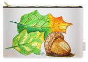 Acorn And Leaves Carry-all Pouch