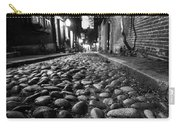 Acorn Street Cobblestone Detail Boston Ma Black And White Carry-all Pouch