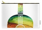 Acoustic Guitar - Colorful Abstract Musical Instrument Carry-all Pouch by Sharon Cummings