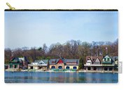 Across From Boathouse Row - Philadelphia Carry-all Pouch by Bill Cannon