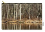 Across Skymount Pond - Autumn Browns Carry-all Pouch