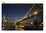 Across The Brooklyn Bridge To Manhattan At Night Carry-all Pouch