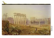 Across The Forum - Rome Carry-all Pouch by Hugh William Williams