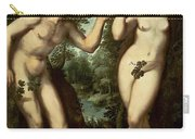 Adam And Eve Carry-all Pouch by Peter Paul Rubens