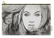 Adele Charcoal Sketch Carry-all Pouch