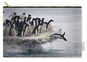 Adelie Penguin Pygoscelis Adeliae Carry-all Pouch by Tui De Roy