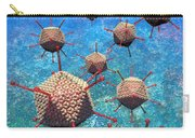 Adenovirus Particles 3 Carry-all Pouch by Russell Kightley