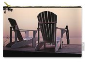 Adirondack Chairs Dockside At Lavender Haze Twilight Carry-all Pouch