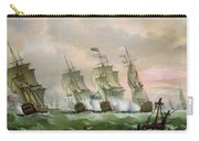 Admiral Sir Edward Hawke Defeating Admiral De Conflans In The Bay Of Biscay Carry-all Pouch by Thomas Luny