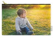 Adorable Baby Playing Outdoors Carry-all Pouch
