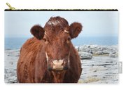 Adorable Brown Cow Standing On The Burren Carry-all Pouch