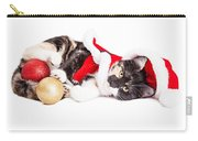 Adorable Christmas Calico Santa Kitty Carry-all Pouch