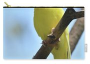 Adorable Face Of A Yellow Budgie Parakeet Carry-all Pouch