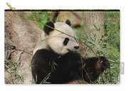 Adorable Giant Panda Bear Eating Bamboo Shoots Carry-all Pouch